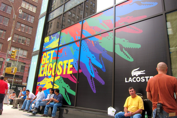 Lacoste Window, Gansevoort Park NYC